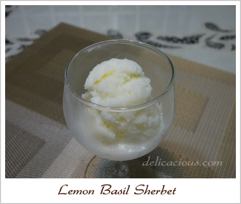 Lemon Basil Sherbet Recipes — Dishmaps
