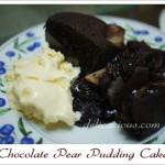 Chocolate Pear Pudding Cake