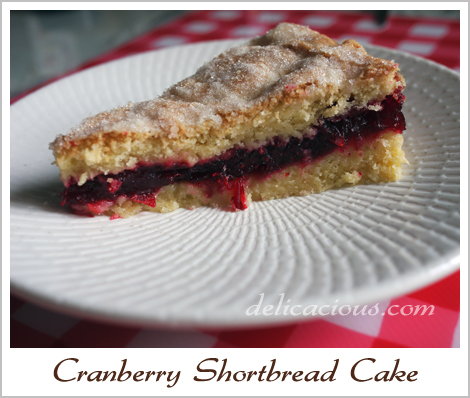 Cranberry Shortbread Cake | Delicacious | A Food Blog