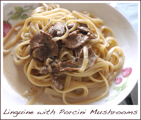 Linguine with Porcini Mushrooms
