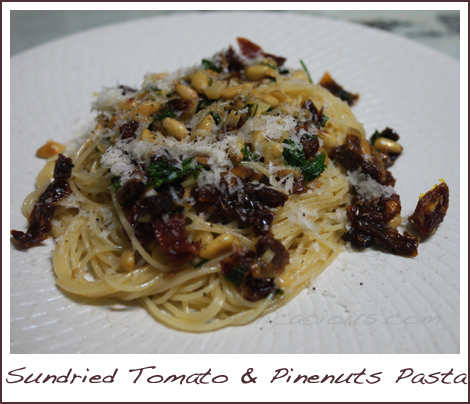 Sundried Tomato and Pine nuts Pasta