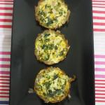 Potato crusted spinach quiche | Delicacious