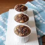 Nutella swirled choco nana muffins