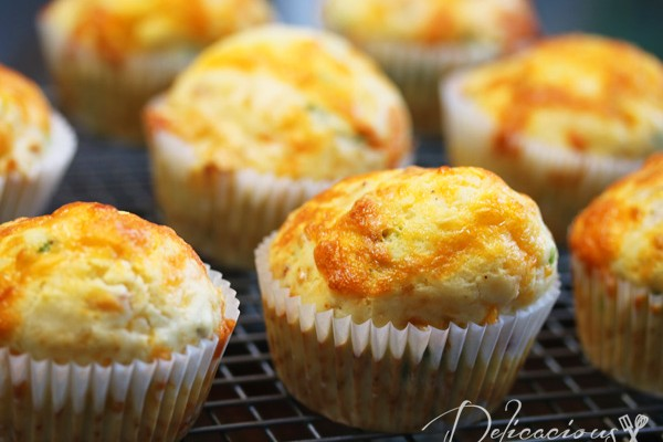 Bacon, Cheese and Scallions Muffins