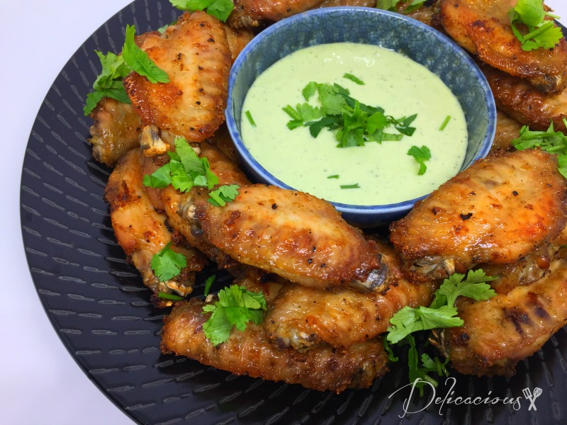 crispy lemon wings
