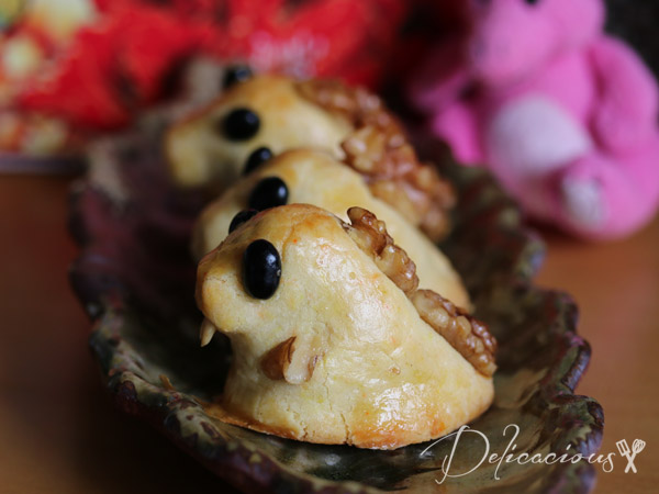 walnut dinosaur mooncakes
